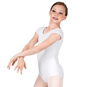 short sleeve leotard - white